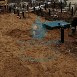 Септик ЮНИЛОС профессиональный монтаж канализации в Москве